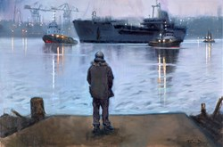 The Return by Kevin Day - Original Painting on Stretched Canvas sized 36x24 inches. Available from Whitewall Galleries